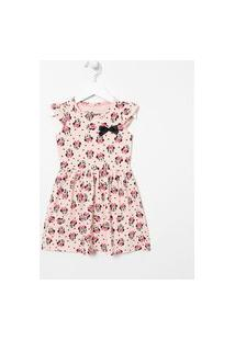 Vestido Infantil Minnie - Tam 1 A 6 Anos | Minnie Mouse | Rosa | 5-6