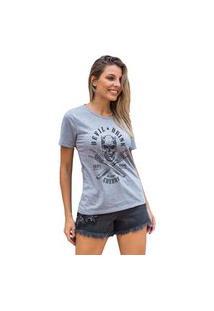Camiseta Feminina Mirat Devil Drink Mescla