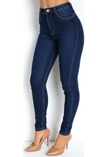 Calça Jeans Cigarrete 360º Com Cinta Sawary