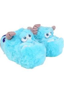 Pantufa Ricsen Sulley - Feminino-Azul Turquesa