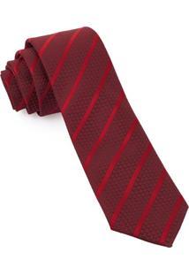 Gravata Slim Tramada Red - Spc91