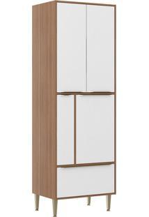 Paneleiros 4 Portas 1 Gaveta 5406926 Nogueira/Branco - Multimóveis