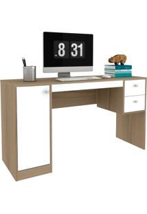 Escrivaninha Home Office 1 Pt 2 Gv Avelã E Branca