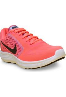 Tenis Fem Nike 819303-602 Revolution 3 Rosa Neon