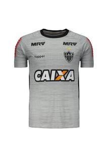 Camisa Atlético Mineiro Treino Atleta Topper 2017 Cinza 4200229-324