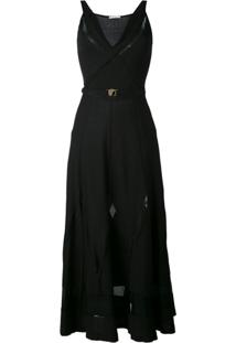Versace Collection Vestido Midi - Preto
