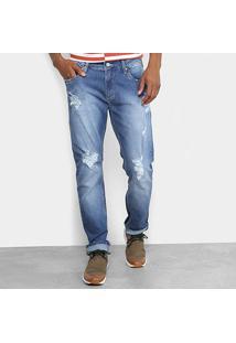 Calça Jeans Reta Forum Rasgos Masculino - Masculino