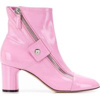 3ad9b8b2fb Casadei Ankle Boot Com Zíper Lateral - Rosa