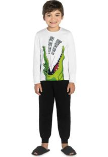 Pijama Infantil Jacaré Branco