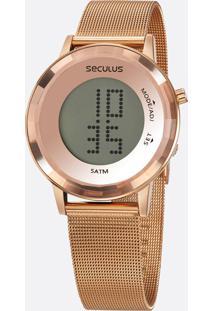 Relógio Feminino Digital Led Mondaine 77046Lpsvrs2