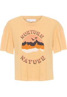 Camiseta Feminina Eco Silk - Amarelo