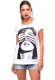 Camiseta Cindy Liverpool Feminina - Feminino-Branco