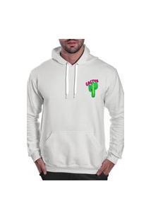 Blusa De Frio Moletom Masculino Benellys Cactus Peq Com Capuz Branco
