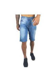 Bermuda Jeans Masculina Azul Clean Clara Di Nuevo