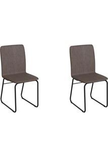 Conjunto Com 2 Cadeiras Hawke Marrom E Preto