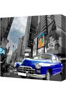 Quadro Impressão Digital Carro Azul Azul 30X30Cm Uniart