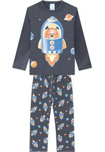 Pijama Infantil Masculino Mescla