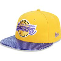 a024f86bd Boné New Era 5950 Los Angeles Lakers Aba Reta Amarelo
