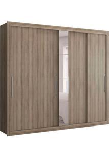 Guarda-Roupa Casal Com Espelho Baco Flex 5 Pt Anis E Camurça