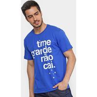 Camiseta Cruzeiro Time Grande Não Cai Masculina - Masculino 2b0a7270ea561