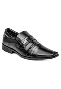 Sapato Social Forma Alongada Masculino Premium Preto