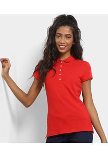 Camisa Polo Tommy Hilfiger Básica Feminina - Feminino b156904ad7f69