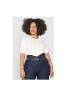 Camiseta Dimy Tachas Off-White