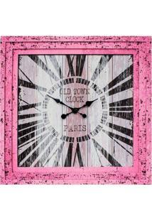 Relógio Oldtown Paris Rosa Fullway 70X70