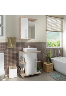 Conjunto De Banheiro Stm Moveis C18 Branco Rustico Se