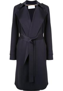 Harris Wharf London Trench Coat Clássico - Azul