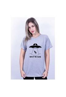 Camiseta Bilhan Corte A Fio Et Me Leva Cinza