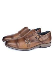 Sapato Social Savelli Masculino Couro Macio Leve Conforto Marrom 37