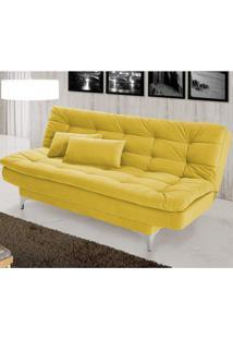 Sofá Cama 3 Lugares Pratic Siena Móveis Amarelo