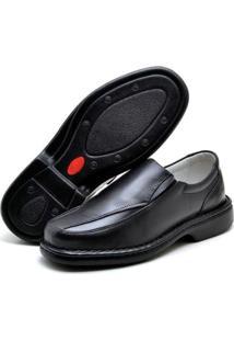Sapato Conforto Su Fashion Store Antistress Couro Bico Redondo Masculino - Masculino