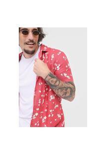 Camisa Abstrata Com Linho. - Rosa & Branca. - Hering H2K21Ken