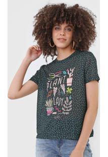 Camiseta Cantão Plant Lady Preta/Verde