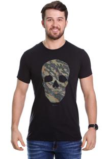 Camiseta Javali Preta Caveira
