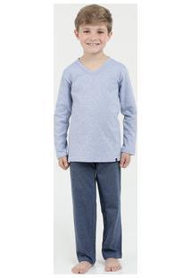 Pijama Infantil Manga Longa Lupo