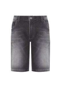 Bermuda Masculina Jeans Black - Preto