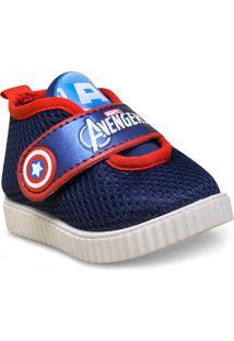 9a3fc73c2d Tenis Masc Infantil Grendene 21569 Avengers Move Paly Branco Azul