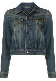 Saint Laurent Faded Denim Jacket - Azul