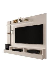 Painel Para Tv Até 47 Polegadas - Off White Com Preto - Móveis Jaci