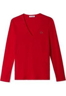 Camiseta Lacoste Feminina - Feminino-Vermelho
