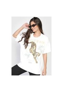 Camiseta Colcci Onça Branca