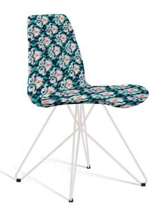 Cadeira De Jantar Eames Butterfly Azul Estampada