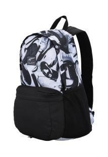 Mochila Puma Pioneer Backpack Ii - 22 Litros - Preto Branco 05b295d9cb2b8