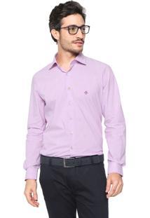Camisa Dudalina Slim Mescla Lilás b8b0b1f0d54e0