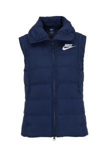 Colete Nike Sportswear Down Fill - Feminino - Azul Esc/Branco