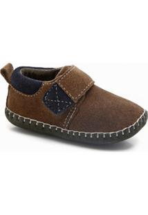 Sapato Tp-Boots Terra Pé Marrom E Azul Marinho