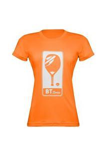 Camiseta Manga Curta Feminina Beach Tennis Laranja